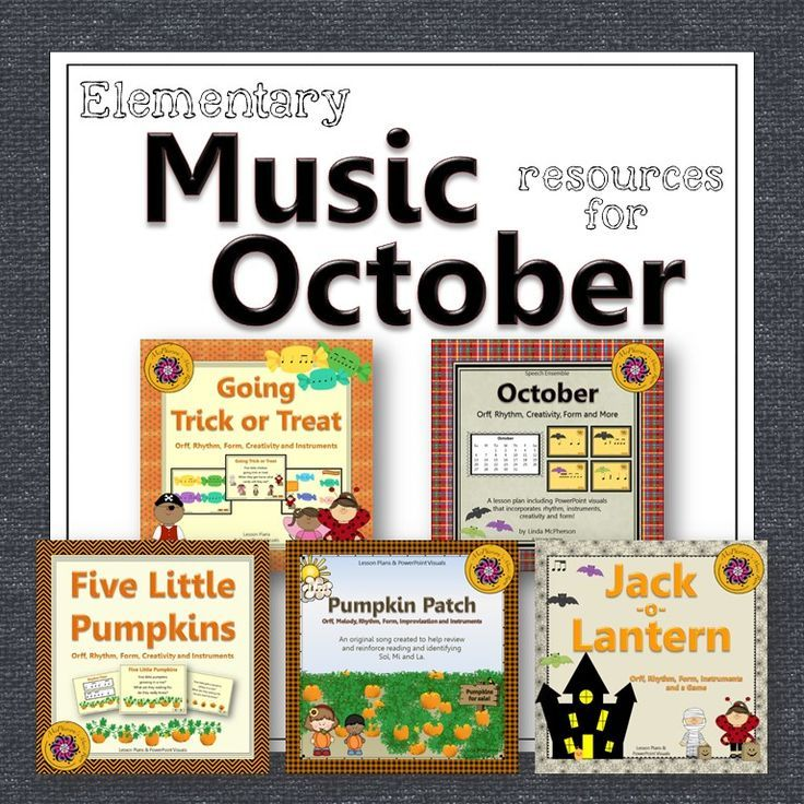 Engaging elementary music lesson plans and activities for the month of October! Your elementary music students will love all the activities! Excellent Orff and Kodaly music education resource!
