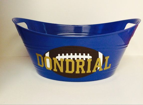 Hey, I found this really awesome Etsy listing at https://www.etsy.com/listing/236511927/personalized-football-tubs-personalized
