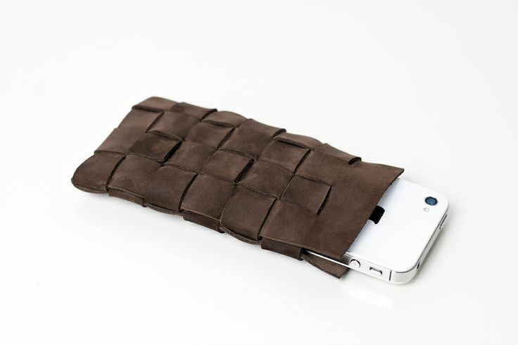 M I S B E H A V E leather phone sleeve