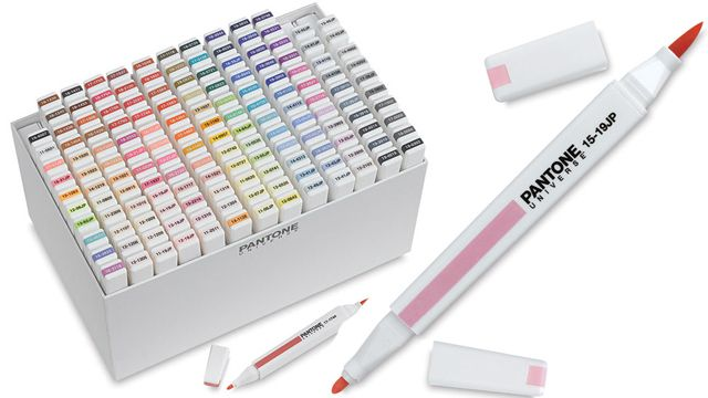 Big box of Pantone markers... I think I know of a few #Cornell DEA grads who might like this as a gift...