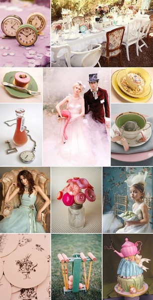 ideas for an alice in wonderland themed wedding reception, perfect for my future big day, kitchy and vintage