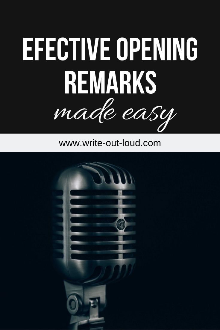 Effective And Easy Opening Remarks Speech All The Resources You