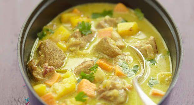 Curry d'agneau au lait de cocoVoir la recette du Curry d'agneau au lait de coco >>