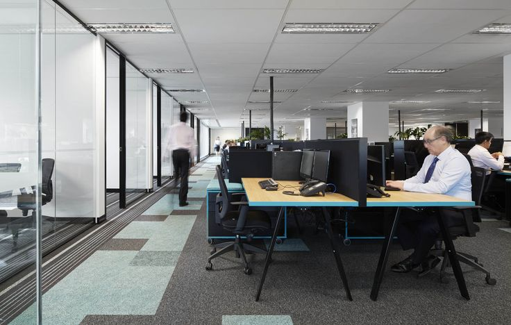 M2 Telecommunications - Open workplace area. By STUDIOMINT Melbourne Australia