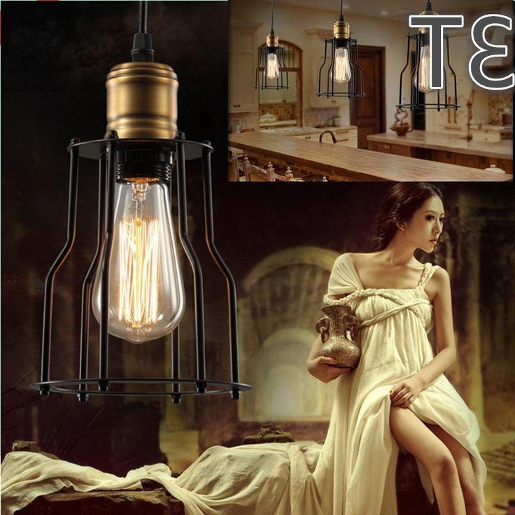 39.00$  Buy here - https://alitems.com/g/1e8d114494b01f4c715516525dc3e8/?i=5&ulp=https%3A%2F%2Fwww.aliexpress.com%2Fitem%2FE27-socket-loft-lamp-Vintage-pendant-light-LED-light-iron-metal-bird-cage-nordic-style-lampshade%2F32628305059.html - E27 socket loft lamp Vintage pendant light LED light  iron metal bird cage nordic style lampshade lighting light fixture