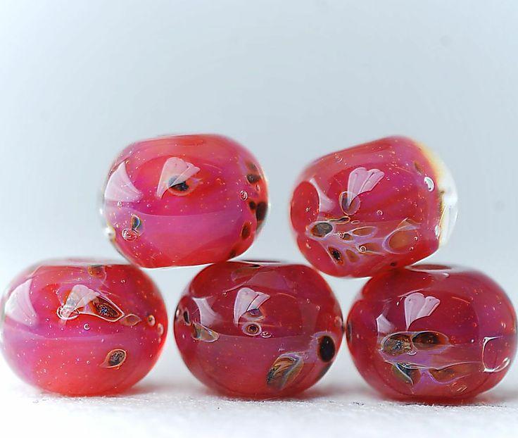 boro lampwork beads the cranberries