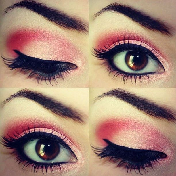 pretty eye makeup | Pretty Pink Eye Makeup Tutorials and Ideas for a Romantic Valentine ...