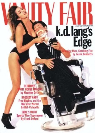 """cMag108 - Vanity Fair Magazine cover """"Cindy Crawford & K.D. Lang"""" / Photo by Herb Ritts / August 1993"""