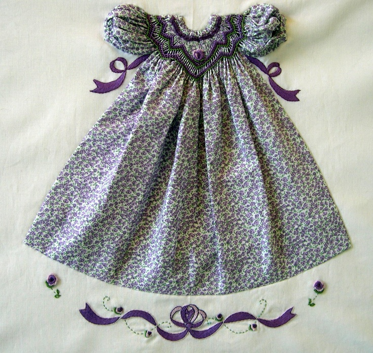 Kreations by Karen - WOW - tiny smocked dresses for quilts or pictures