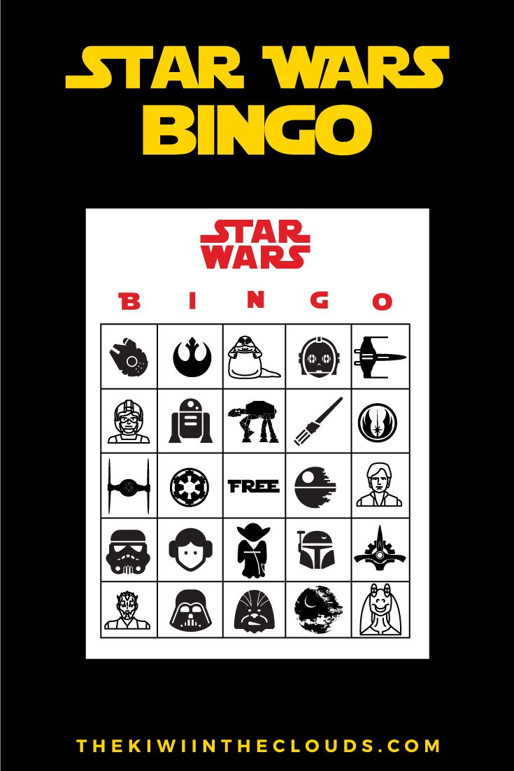 Star Wars Party Printables | If you're throwing a Star Wars themed birthday party then you MUST check out this insane bundle of Star Wars FREE printables! This bundle includes an invitation, thank you card tags, food tent cards, mini water bottle labels, and even bingo cards!!! Yes, jackpot!
