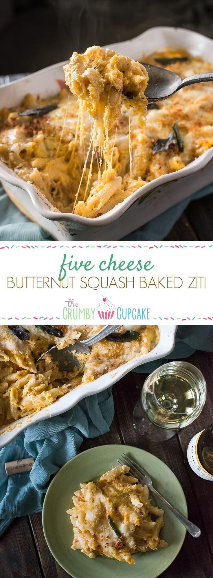 [Msg 4 21+] A tasty seasonal spin on an easy Italian dish, this Five Cheese Butternut Squash Baked Ziti makes a great meal between holidays or a sensational side to the main event! AD #talkofthetable @BarillaUS @ClosduBois