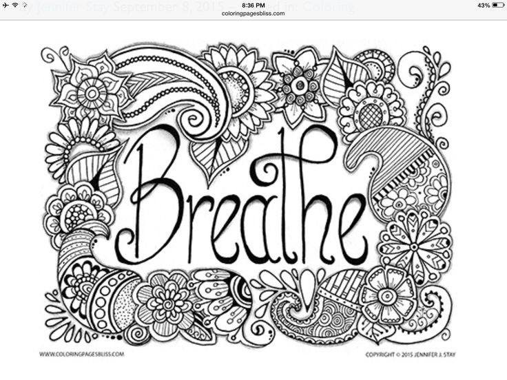 Breathe Adult Coloring Page With Beautiful Paisleys And Flowers Created By Jennifer Stay Visit Pages Bliss To See Over 100 Of Jennifers Designs