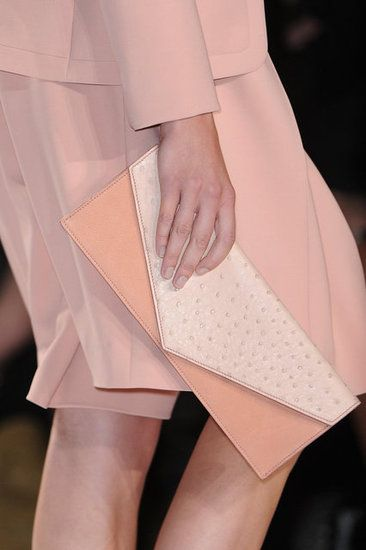Best Bags From the Spring 2013 Fashion Week Runway  Love this soft pick clutch