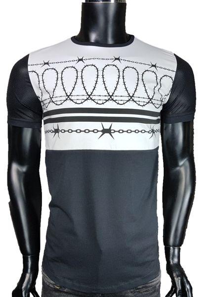 T-Shirt męski z siatką - Biały - T-shirty męskie - Awii, Odzież męska, Ubrania męskie, Dla mężczyzn, Sklep internetowy