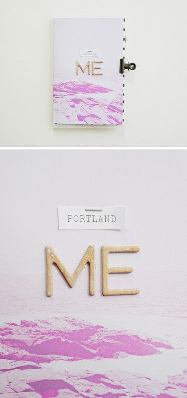 Mini Album - Portland, ME by analogpaper at @studio_calico #studiocalico #scrapbooking #minialbum #projectlife