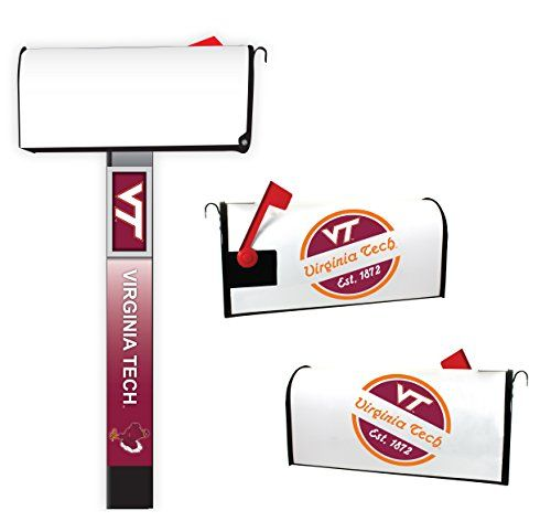 "Virginia Tech Hokies Magnetic Mailbox Cover 2-Pack Mailbox Post Cover  Features full color school logos  Fits most standard sized metal mailboxes  Magnetic backing  18""l x 20""w"