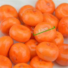 20 шт. Небольшие Ягоды Искусственные Пластиковые Цветок модель Orange Тычинки Pearlized Свадебные моделирования стекло граната Украшения(China (Mainland))