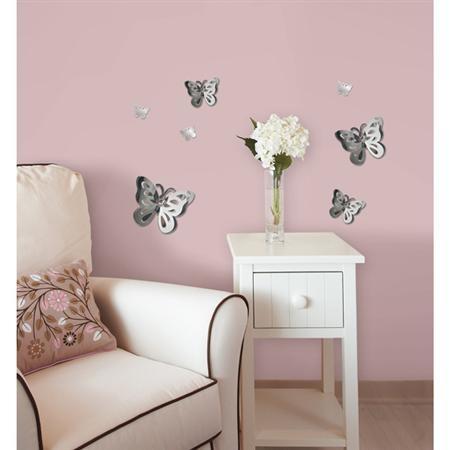 WallPops 3D Butterflies #walldecals  #wallart  #peelandstick  #WallPops  #wallstickers  #decor  #DIY  #decorating: Wall Decor, Gifts Ideas, Wall Decals, Girls Gifts, Mirror Wall, Decals Sets, Butterflies Mirror, Baby Rooms, 3D Butterflies