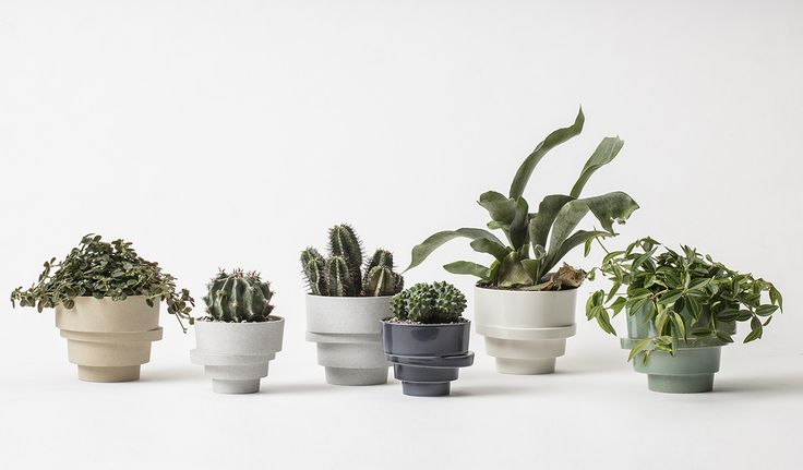The Stacked Flowerpot - a sculptural home for your favourite plant. Available in 2 sizes and 5 colours.