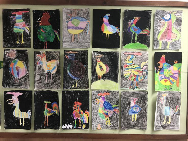 Picasso kakasai #education #artschool #studentlife #oktatás #művészet #grafika #picasso #rooster