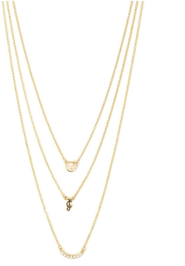 Juicy Couture Outlet - PEARL LAYERED NECKLACE