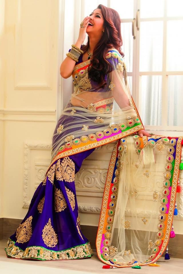 Pretty Designer Saree Elegant Fashion Wear Indian