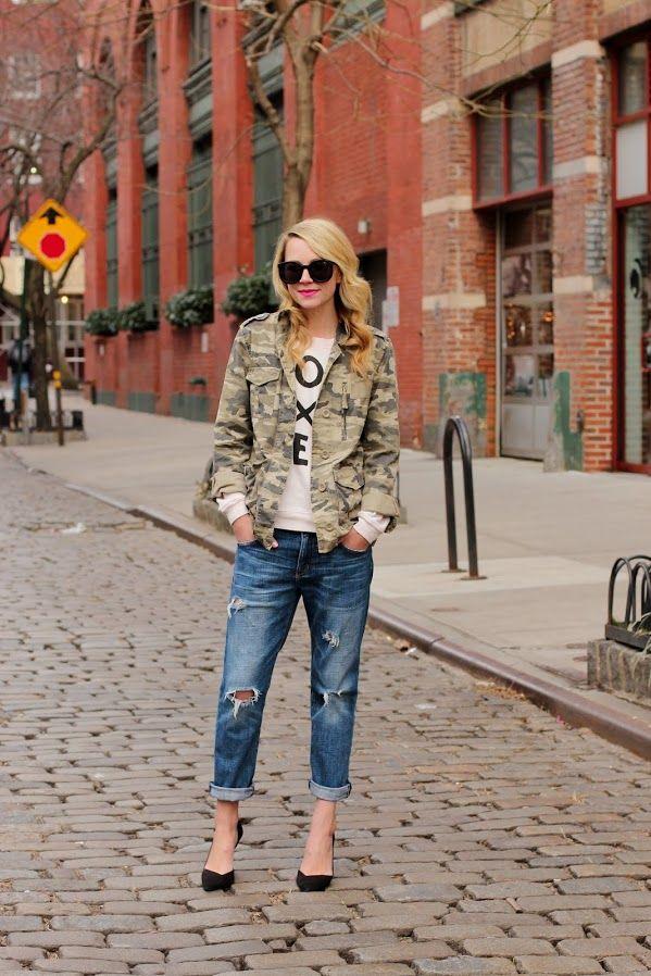Sweatshirt: Zoe Karssen. Jeans: Current Elliott. Shoes: Zara (old). Jacket: Jcrew (old, but similar here). Sunglasses: Karen Walker. Nails: Butter 'Teddy Girl'. Ring: Pomellato. Lips: NARS 'Schiap'.
