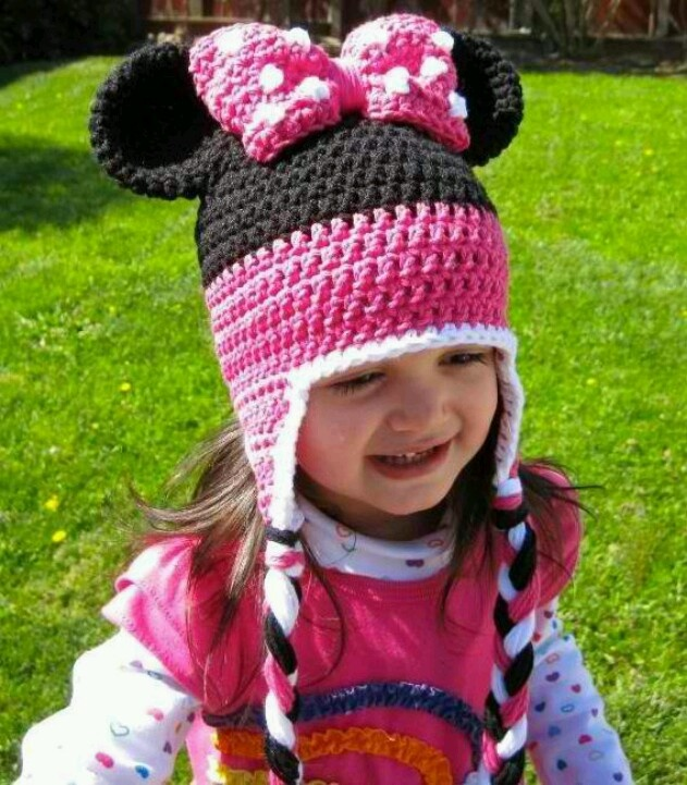 Minnie Mouse Crochet Baby Hat Pattern : 17 Best images about minnie mouse on Pinterest Hot dogs ...
