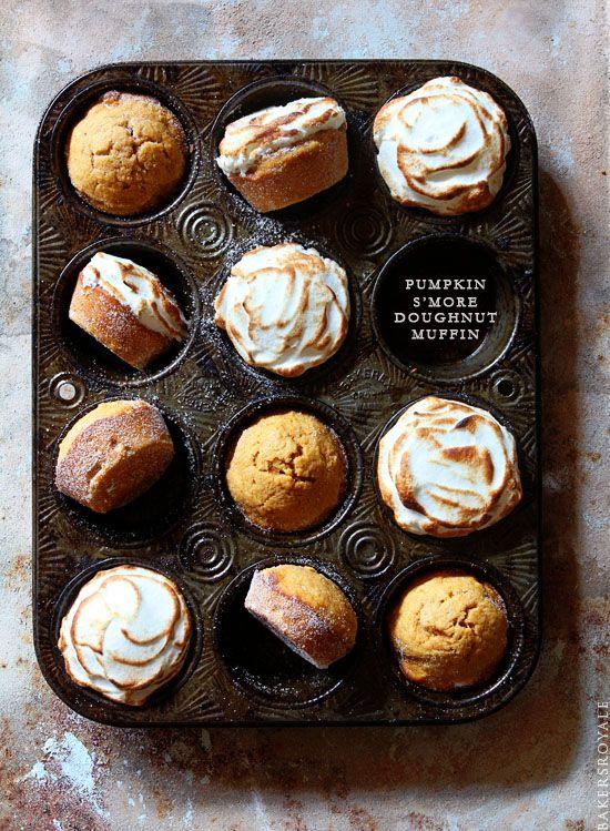 Pumpking Smore Dougnut Muffin via Bakers Royale
