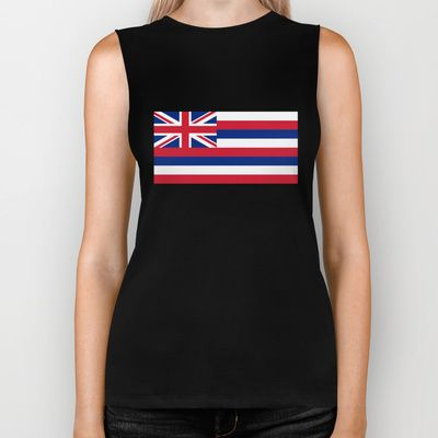 The State flag of Hawaii - Authentic version Biker Tank by LonestarDesigns2020 - Flags Designs + - $28.00