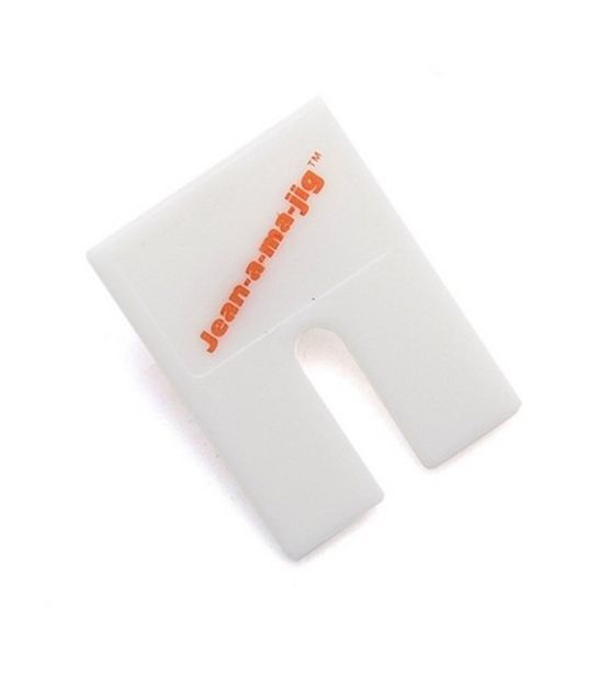 """Dritz Jean-A-Ma-Jig, ,""""Fabrics with thick seams can be topstitched and machine-hemmed easily with this efficient tool. It is ideal for hemming jeans with thick flat-fell seams as it prevents broken needles and skipped stitches."""""""