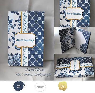 """CindraScrap: Pochette à courrier """"Boutique Fleurie"""" et son tutoriel"""