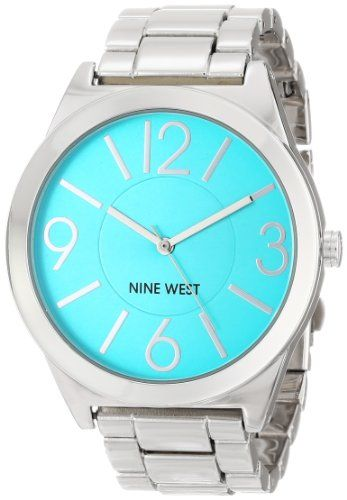 Nine West Women's NW/1585TLSB Turquoise Dial Silver-Tone Bracelet Watch Nine West http://smile.amazon.com/dp/B00I5B28OW/ref=cm_sw_r_pi_dp_lFV5tb1CFJQX5