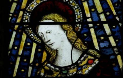 Título: Virgen Anunciada Autor: John  Prudde Lugar: Capilla Beauchamp Siglo: XV