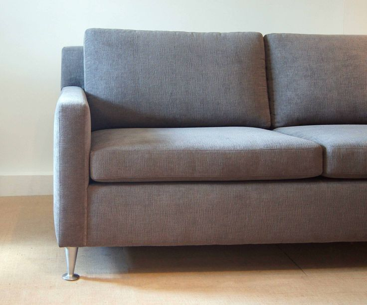 Sofa with narrow tuxedo arm