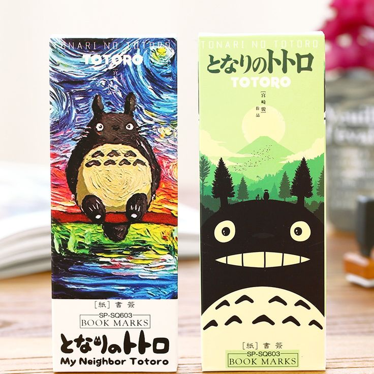 32 pcs/pack My neighbor Totoro book marks Cartoon paper bookmark Stationery office accessories School supplies marcador 6392