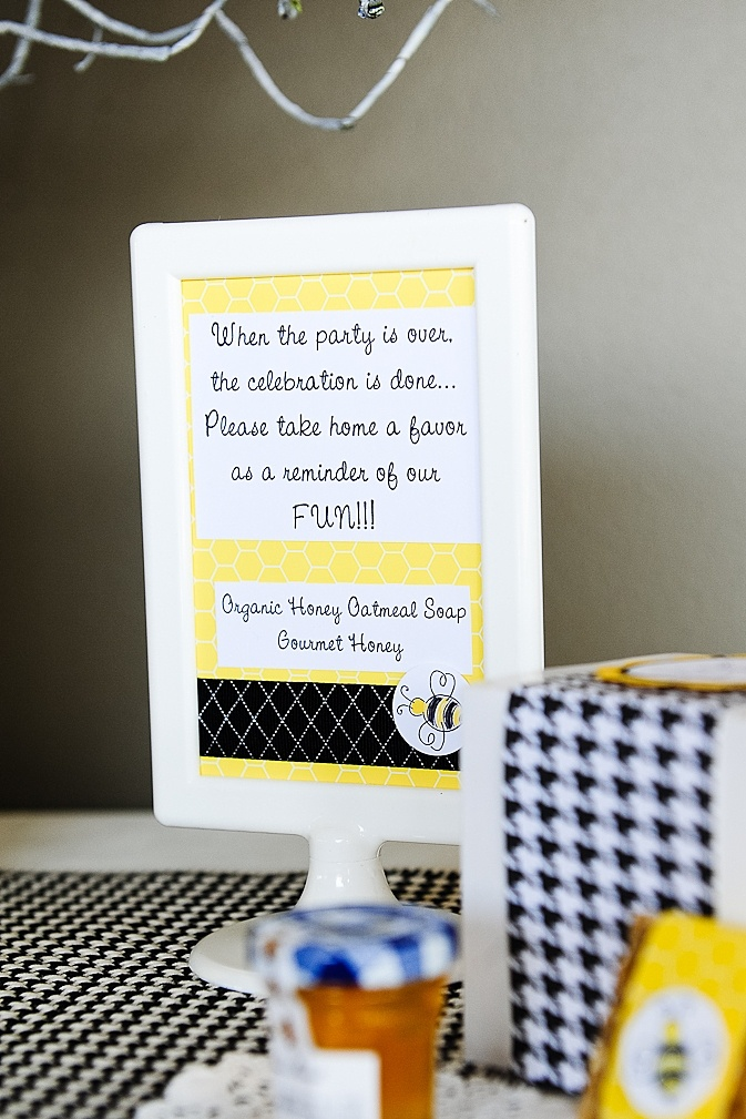 bee themed party favors