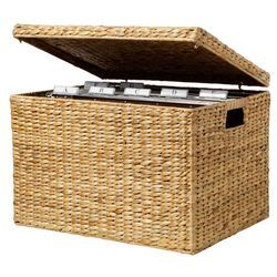 Product image for Water Hyacinth File Box Small Natural