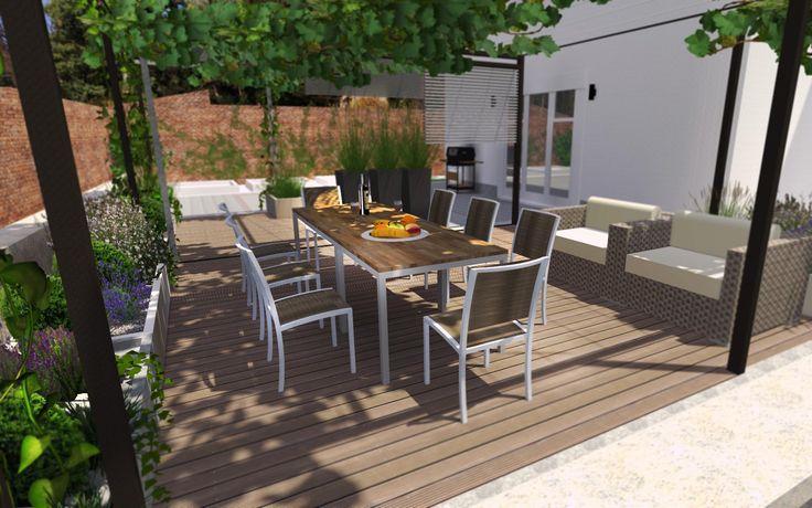vizualizace posezení na terase /  visualization of seating area on the terrace