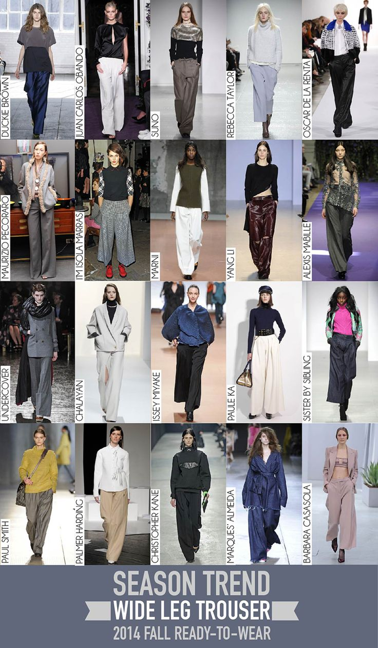 Wide Leg Trouser Trend - 2014 Fall RTW Review