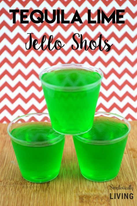 Simple Tequila Lime Jello Shots Simplistically Living