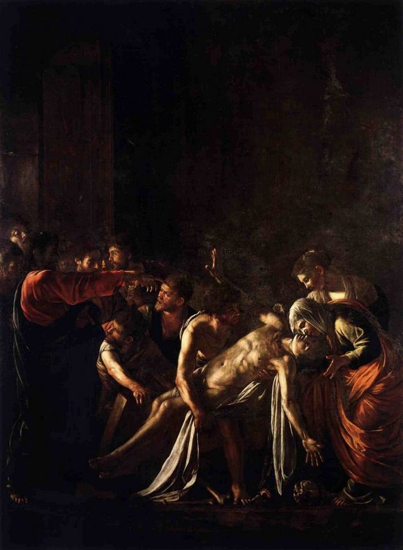 The Raising of Lazarus, Caravaggio — Bestarts.org