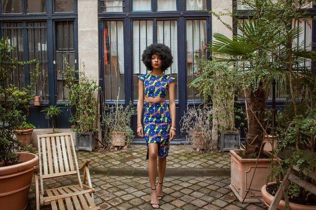For Muse, Natacha opted for two black models, both wearing their hair in Afro styles. She tells us that she chose the models and their look to give the style a certain character.