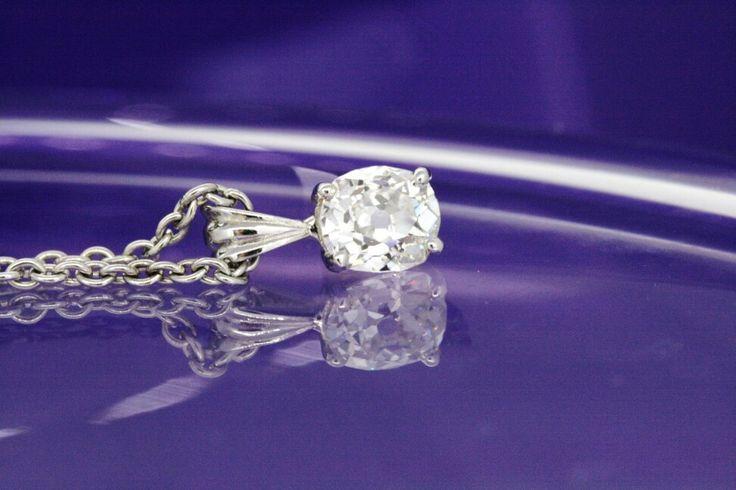 Oval cut diamond pendant
