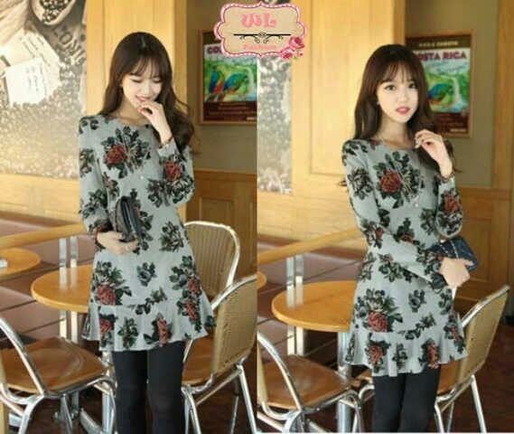 Jual long dress bahan spandek korea