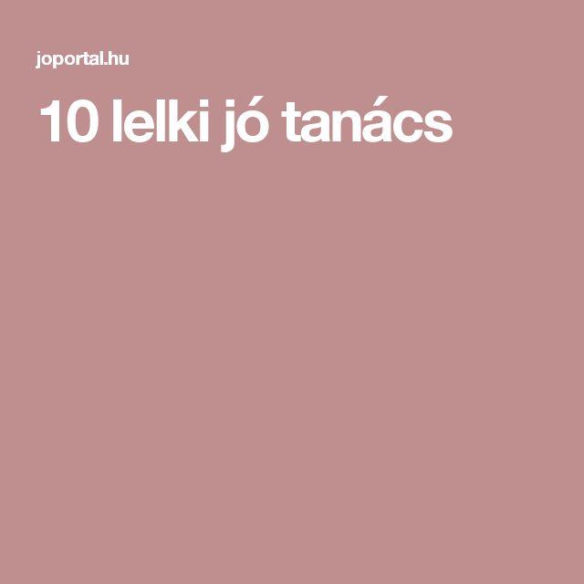 10 lelki jó tanács
