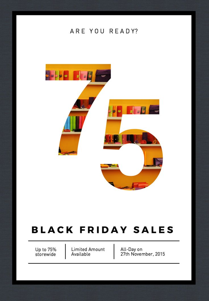 Design An Engaging #poster Especially For #BlackFriday With Announcement  About The Deals That You