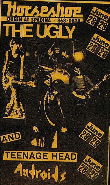 The Ugly, Teenage Head, The Androids @ The Horseshoe Tavern, Toronto, June 1979