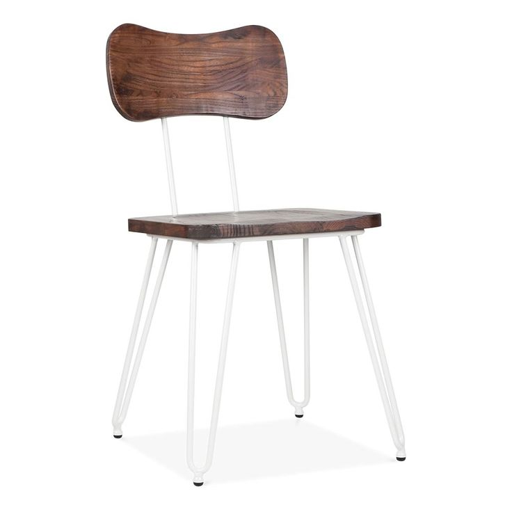 Cult Living Susa Chair With Hairpin Legs   White
