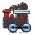 Aufbügler LokomotiveGrau - süße Lokomotive zum Aufbügeln. Verzieren Sie mit diesem Aufbügler gekaufte oder selbst genähte Kleidung und mehr. Oder nutzen Sie ihn als Flicken für ein Loch in der Kleidung.Der Aufbügler ist aus Filz mit gestickten Details. Anleitung: legen Sie den Aufbügler auf´s Bügelbrett, den Stoff oben auf. Stellen Sie das Bügeleisen auf 150 Grad und b&uuml...